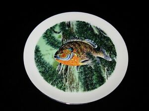 Pickard-BLUEGILL-Fish-Signed-Rod-Ruth-10-1-4-034-Collector-Plate