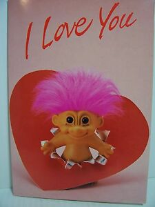 RUSS-TROLL-DOLL-VALENTINE-I-LOVE-YOU-NOTE-CARD-New-RARE