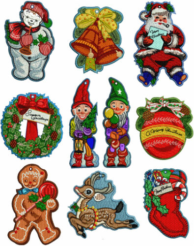 """ABC Designs 10 Christmas Lace Ornaments Machine Embroidery Designs 5/""""x7/"""" Hoop"""