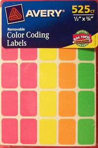 AVERY-COLOR-CODING-LABELS-REMOVABLE-525-COUNT-1-2-034-X-3-4-034-YARD-SALE-STICKERS