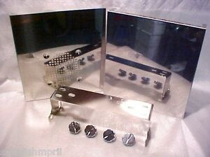CB-Side-Mic-Radio-Cover-Cobra-148-DX-Ham-Galaxy-Chrome-Case-Bracket-Kit-Knobs