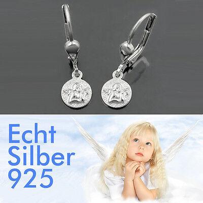 Mädchen Schutzengel Hänger Ohrringe Engel Ohrhänger aus ECHT SILBER 925 NEU