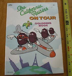 1988 California Raisins on Tour Coloring book TOUGH!