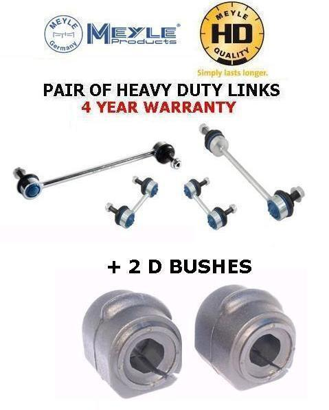 FOR FORD FOCUS 98-04 FRONT MEYLE HD LINKS DROP STABILISER ANTIROLL BAR D BUSHES
