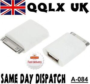 USB-Female-Converter-Adapter-for-Apple-iPad-2-iPhone-4-3GS-UK-SELLER