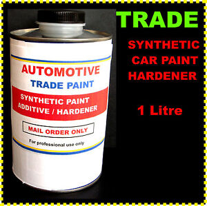car paint synthetic hardener to speed up drying 1lt ebay. Black Bedroom Furniture Sets. Home Design Ideas