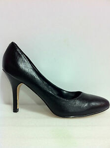 WOMENS-SHOES-ALISSON-BY-VERALI-MID-HEEL-COURT-IN-BLK-SMOOTH-PU-LEATHER-SZ-5to10