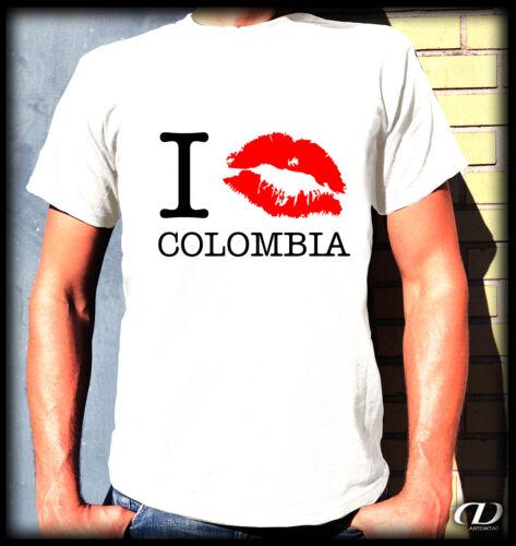 Kult T-Shirt S-3XL Kolumbien Bogotá Medellín Cali Südamerika I KISS COLOMBIA