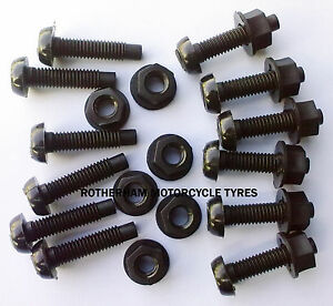 12-CAR-NUMBER-PLATE-REGISTRATION-BLACK-FIXINGS-NYLON-SCREWS-BOLTS-AND-NUTS