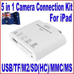 5-IN-1-USB-Camera-Connection-SD-TF-M2-MMC-MS-Card-Reader-Adapter-Kit-4-iPad1-amp-2