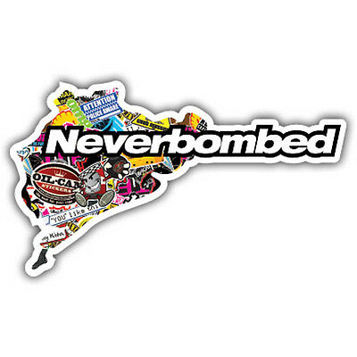 NEVERBOMBED (nurburgring) CAR STCKER, STICKER BOMBED STICKER BOMBING design
