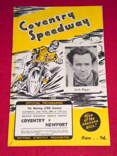 SPEEDWAY Coventry v Newport May 22 1965