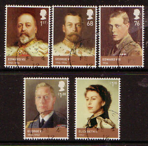 GREAT-BRITAIN-2012-AGE-OF-THE-WINDSORS-SET-OF-5-FINE-USED