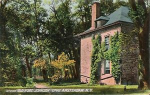 Postcard-NY-Amsterdam-Montgomery-Cty-Old-Fort-Johnson-Printed-Germany-ca-1906