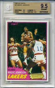 1981-Topps-Basketball-Magic-Johnson-card-BGS-9-5-Lakers-Earvin