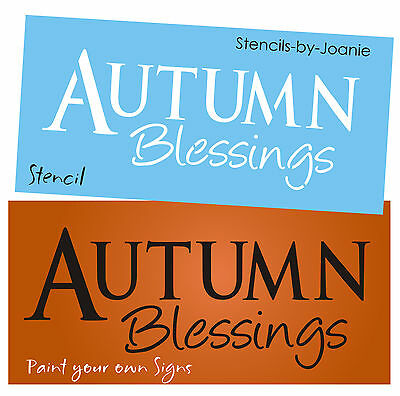 Primitive STENCIL Autumn Blessings Country Fall Harvest Farm Craft Signs U Paint