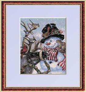 SNOWMAN'S BEST FRIENDS~DELICA BEAD PATTERN ONLY