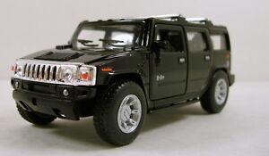 Kinsmart-2008-Hummer-H2-SUV-1-40-scale-5-034-diecast-model-car-Brand-New-Black-K31