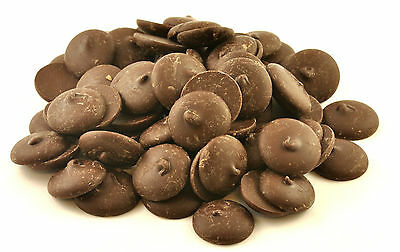 POPPYS DARK 70% CHOCOLATE BUTTONS COUVERTURE CHOCOLATE 5KG