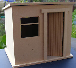 1:24 Scale Small Flat Pack MDF Wooden Garden Shed Dolls House ...