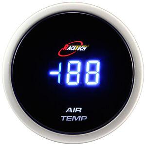 52mm inside outside thermometer digital air temp gauge meter blue led ebay. Black Bedroom Furniture Sets. Home Design Ideas