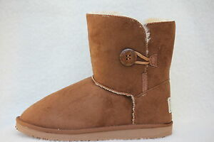 Ugg-Boots-1-Button-Synthetic-Wool-Colour-Chestnut-Size-4-Lady-039-s