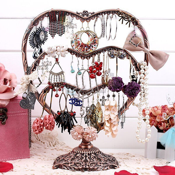New Cooper Iron Products heart Jewelry holder displayer case for earring d053