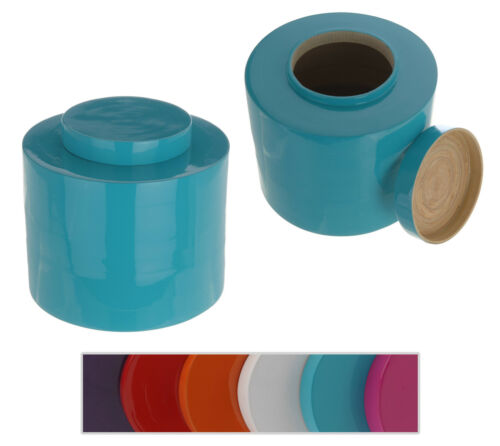 Bamboo Jar Canister Storage Container with Lid Decorative Lacquered Effect