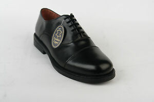 Mens-New-Black-Leather-Capped-Oxford-Cadet-Parade-Office-Style-Shoes-3-14