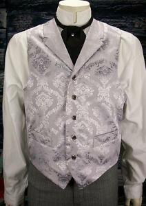 FRONTIER CLASSICS Silver Jacquard Reno Vest Steampunk Dickens SASS Cowboy