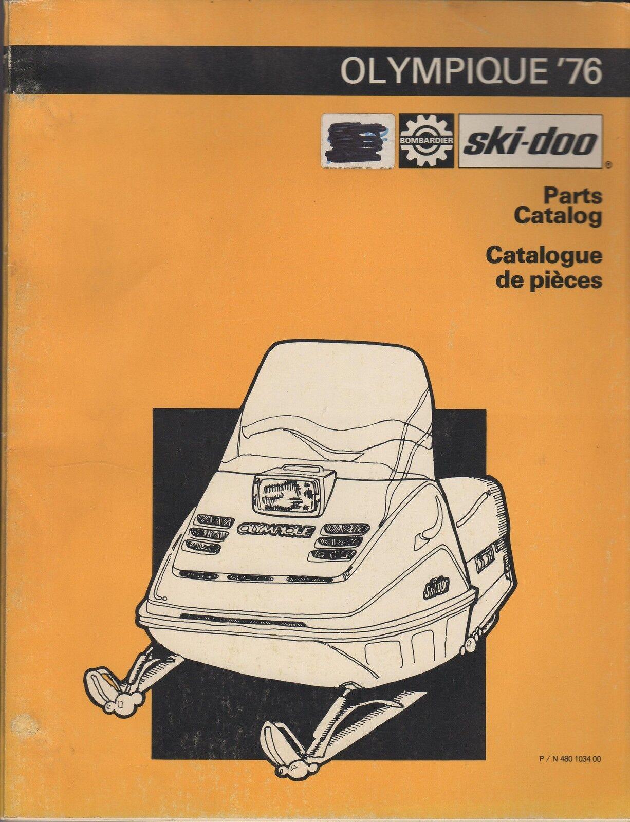 1976 SKI-DOO OLYMPIQUE SNOWMOBILE PARTS MANUAL USED