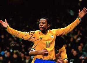 ROBINHO-aka-Robson-de-Souza-SIGNED-Autograph-Brazil-Soccer-16x12-Photo-AFTAL-COA