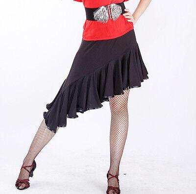 NEW Latin salsa  tango rumba Ballroom Dance skirt #M084 skater skirt 2 colors in