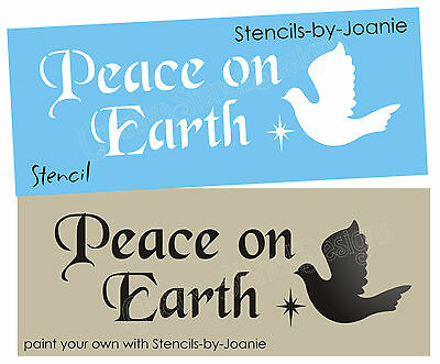Seasonal Holiday STENCIL Peace On Earth Dove Star Primitive Christmas Sm. Signs