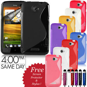 GRIP-S-LINE-WAVE-SILICONE-GEL-CASE-COVER-FITS-HTC-ONE-X-FREE-SCREEN-PROTECTOR