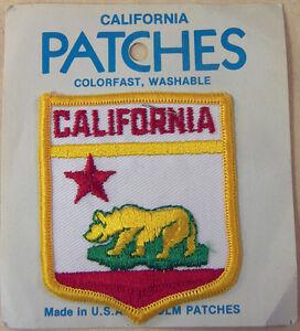 CALIFORNIA SHIELD BEAR STAR PATCH EMBLEM TRAVEL SOUVENIR BADGE HOLM PATCHES NIP
