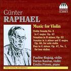 Gunter Raphael - Günter Raphael: Music for Violin (2010)