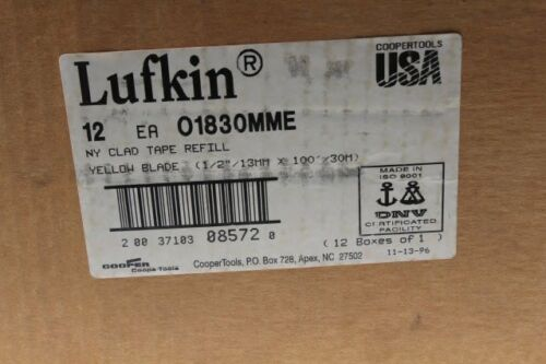 """Box of 12 Cooper Tools Lufkin NY Clad Tape Refill 1//2/"""" x 100/' O1830MME New"""