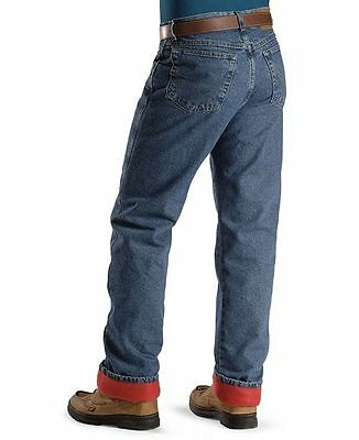 WRANGLER Mens THERMAL INSULATED JEANS- 42 X 34 - Stonewashed NEW - Relaxed Fit