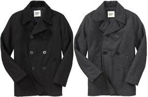 OLD NAVY MEN WOOL PeaCoat Pea Coat Jacket S,M,L,XL,2XL,3XL,MT,LT ...