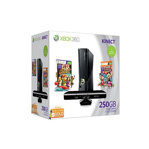 Microsoft Xbox 360 Kinect Holiday Bundle 250GB Glossy ...