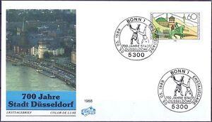 Rfa-1988-Dusseldorf-700-Annees-Fidacos-FDC-Nr-1369-Avec-Bonner-Timbre-1709