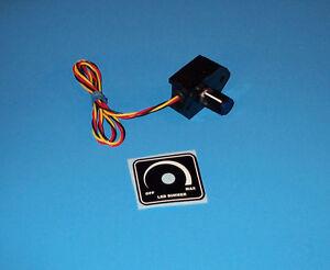 led dimmer 12 volt panel dash mount with on off switch ebay. Black Bedroom Furniture Sets. Home Design Ideas