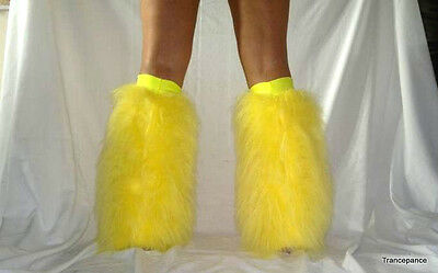 READY MADE FLUFFIES FLUFFY FURRY LEG WARMERS BOOTS COVER