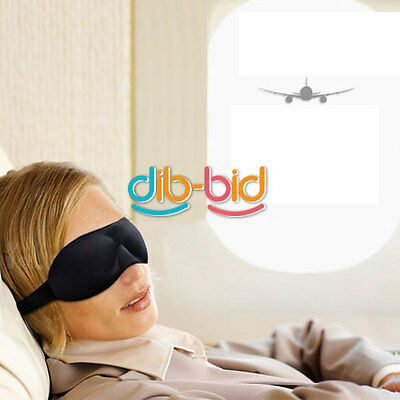 Sleeping 3D Eye Mask Eyeshade Cover Blinder Happy Sleep Rest Relax SSUS