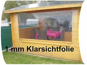 klarsichtfolie 13 50 m transparente pvc folie durchsichtige folie 1 mm stark ebay. Black Bedroom Furniture Sets. Home Design Ideas