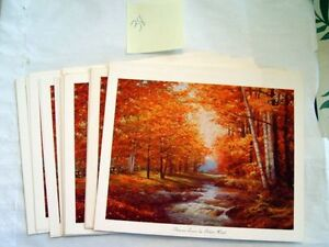 Lot-Of-38-AUTUMN-LEAVES-By-Robert-Wood-1959-Litho-In-US