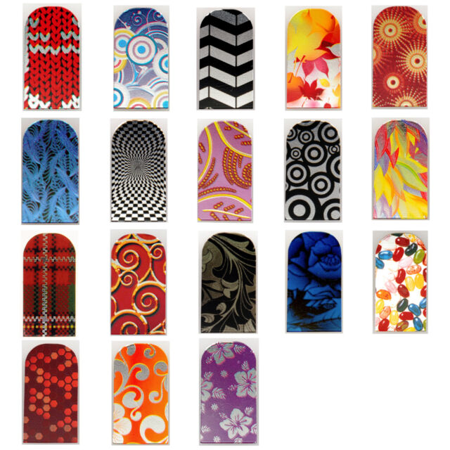 16pcs Nail Foil Nail Art Sticker Patch Nail Wraps for Fingers & Toes 241258