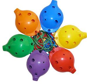 School-OCARINA-plastic-4-hole-Alto-with-How-to-play-Card-6-rainbow-colours