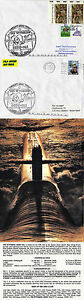 USS WYOMING SSBN 742 BALLISTIC MISSILE SUBMARINE NAVAL COVERS x 2 & POSTCARD